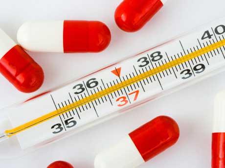 Высокая температура — симптом гриппа