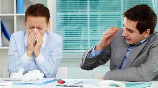 Как защититься от простудной инфекции на рабочем месте?